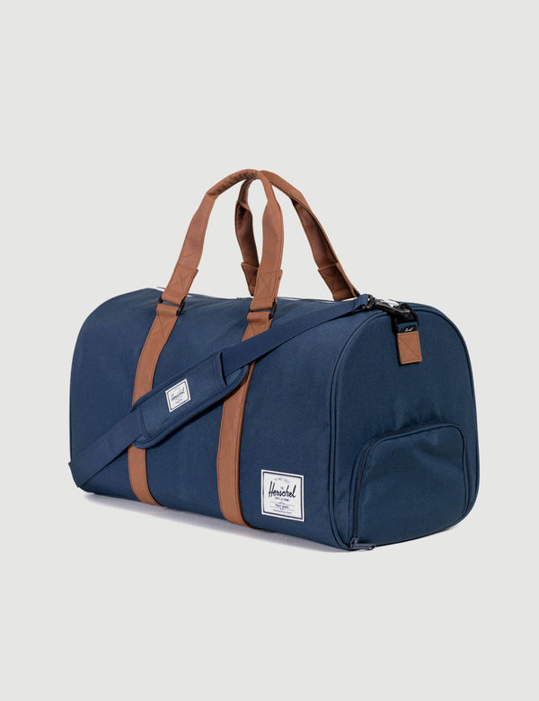 Herschel Novel Duffle - Navy/Tan Synthetic Leather
