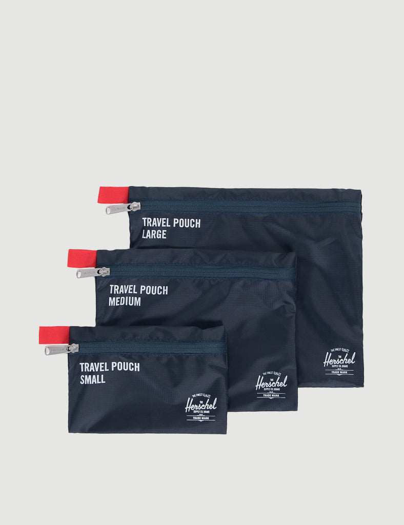 Herschel Travel Pouches - Navy Red