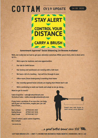 Stay Alert | Keep your Distance | Carry a Brush