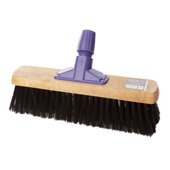 "Pack of 6 x 15"" Stiff Synthetic Broom"