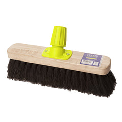 Pack of 12  Small Bassine Stiff Sweeping Broom (280mm)