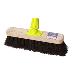 Pack of 12  Bassine Stiff Sweeping Broom (280mm)