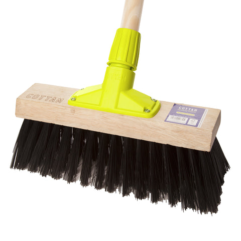 "Pack of 6 x 12"" Synthetic Yard Broom"