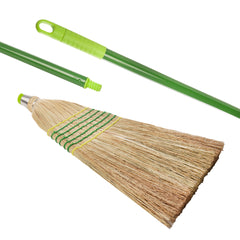 Pack of 6 x Traditional Amercian Pattern Corn Broom