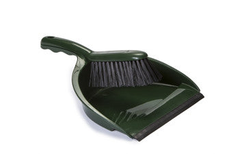 DUSTPAN & BRUSH SET (GREEN)