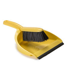 DUSTPAN & BRUSH SET (YELLOW) 24 PACK