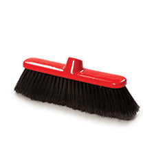 "280mm (11"") BROOM SOFT BLACK ALL PLASTIC FILL (12 PACK)"