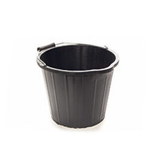 Pack of 10 x 15 Litre Black Plastic Bucket