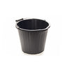 15 LITRE BUCKET BLACK PLASTIC (10 PACK)