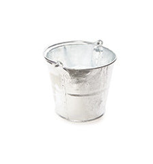 12 x Galvanised Metal Bucket 9 Litre/2 Gallon Capacity
