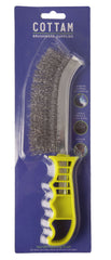 XD STAINLESS STEEL 3 ROW WIRE BRUSH (12 PACK)