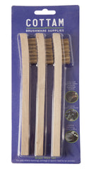 STEEL + SCRAPER 4 ROW WIRE BRUSH (12 PACK)