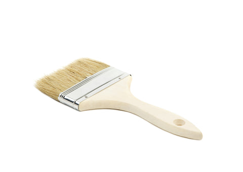 "DISPOSABLE 4"" WHITE BRISTLE PAINT BRUSH (12 PACK)"