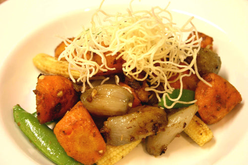 Roasted Vegetables with Satay Relish