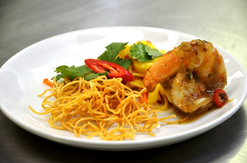 King Prawns with Mango Salad