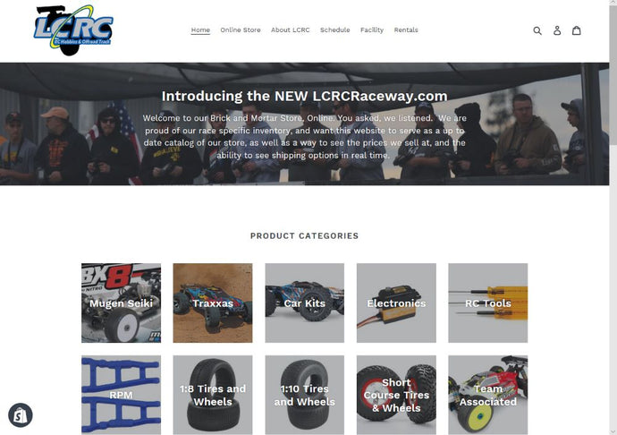 Coming February 13th, 2019:  LCRC Raceway Introduces Our Brand New Online Store!