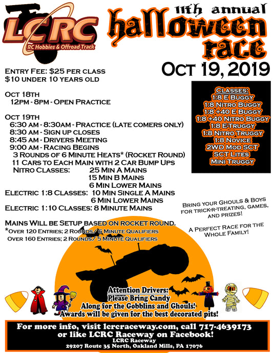 LCRC Raceway's 11th Annual Halloween Race