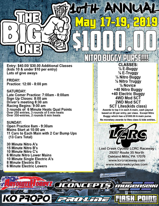 "The Next Race at LCRC: Our 10th Annual ""The Big One"""