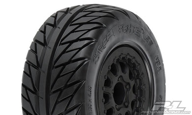 Pro-Line 1167-17 Street Fighter Pre-Mounted SC 2.2/3.0 Tires w/Renegade Wheels (2) (Slash/Rear) (Black)