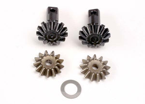 Traxxas 4982 Diff gear set: 13-T output gear shafts (2)/ 13-T spider gears (2)/ spider shaft (1)/ 6x10x0.5mm PTFE-coated washer (1) 0.045