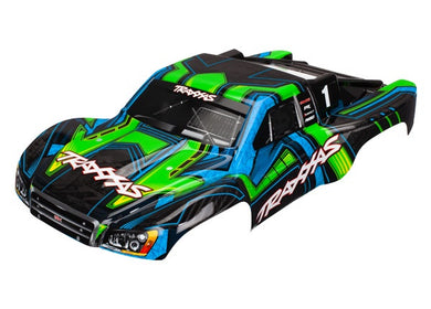 Traxxas 6844X - Body, Slash 4X4, green and blue (painted, decals applied)