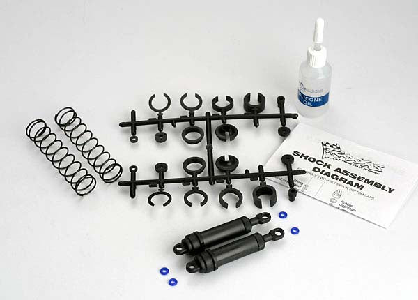 Traxxas 3762 Ultra Shocks (black) (xx-long) (complete w/ spring pre-load spacers & springs) (rear) (2) 0.195