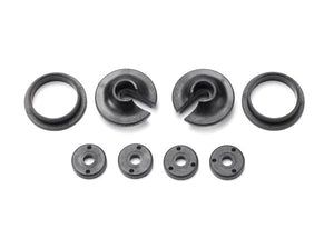 Traxxas 3768 Spring retainers, upper & lower (2)/ piston head set (2-hole (2)/ 3-hole (2)) 0.015