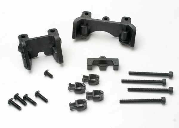 Traxxas 5317 Shock mounts (front & rear)/ wire clip (1)/ chassis wire clips (4)/ 3x32mm CS (4)/ 3x6mm BCS (1) 0.06