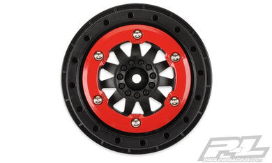 Pro-Line 2746-03 F-11 Bead-Loc Short Course Wheels (Black/Red) (2)..w/12mm Hex (Slash Rear)