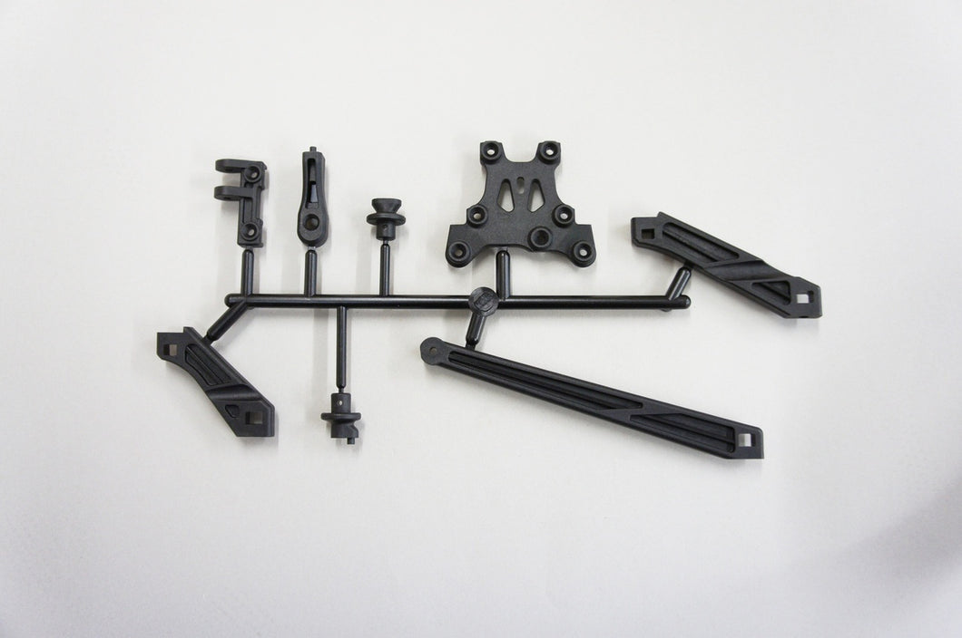 Mugen E2107 Tension Rod, Body Mount & Front Upper Brace Set