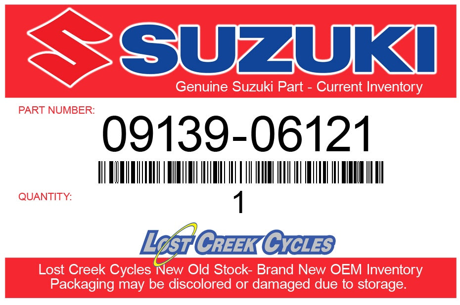 Suzuki 09139-06121 OEM Front Fender Screw