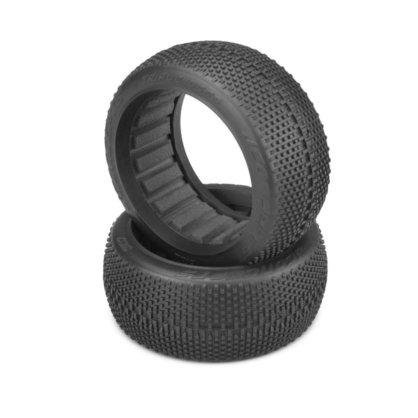 JConcepts 3132-01 Triple Dees 1/8th Buggy Tires (2) (Blue)