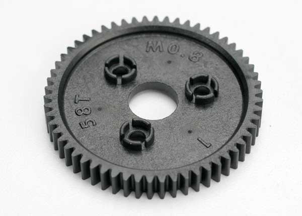 Traxxas 3958 Spur gear, 58-tooth (0.8 metric pitch, compatible with 32-pitch) 0.025