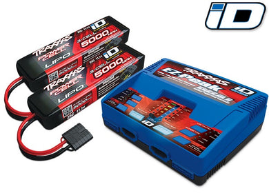 Traxxas 2990 - Battery/charger completer pack (includes #2972 Dual iD® charger (1), #2872X 5000mAh 11.1V 3-cell 25C LiPo battery (2))