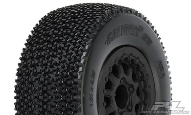 Pro-Line 1176-16 Caliber 2.0 SC 2.2/3.0 M3 Tires w/Renegade Wheels (Black) (2) (Slash/Rear)