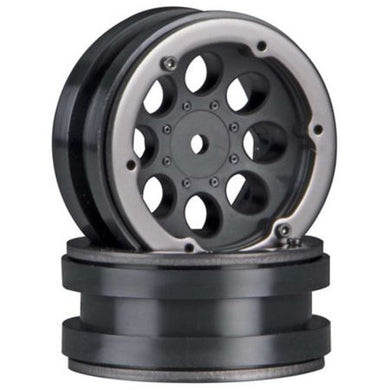 Axial  1/10 8-Hole 1.9 Beadlock Wheels, 12mm Hex, Black (2)