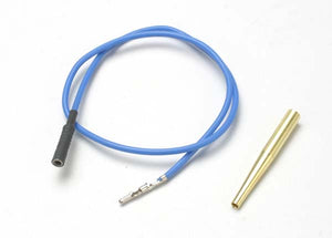 Traxxas 4581X Lead wire, glow plug (blue) (EZ-Start and EZ-Start 2)/ molex pin extractor (use where gl