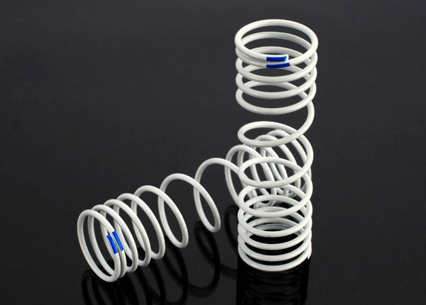 Traxxas 6868  Progressive Rate Rear Shock Springs (Blue) (2)