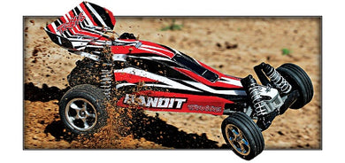 Traxxas 24054-4-RED Bandit: 1/10 Scale Off-Road Buggy with TQ 2.4GHz radio system 8.25