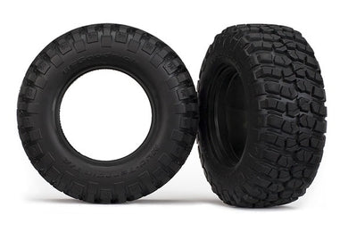 Traxxas 6871R Tires, BFGoodrich® Mud-Terrain T/A® KM2 , ultra-soft (S1 off-road racing compound) (dual profile 4.3x1.7- 2.2/3.0') (2)/ foam inserts (2) 0.375