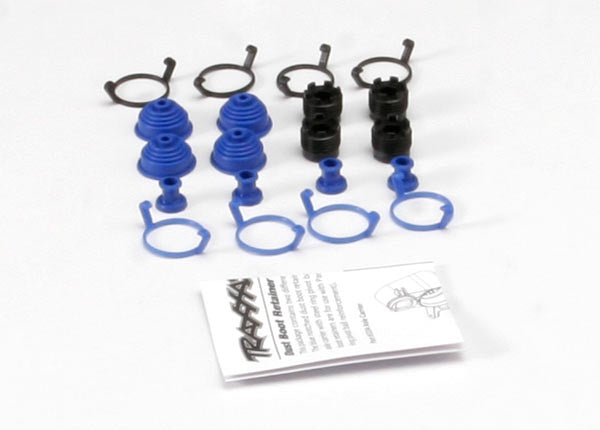 Traxxas 5378X - Pivot ball caps (4)/ dust boots, rubber (4)/ dust plugs, rubber (4)/ dust boot retainers, black (4), blue (4) (2 pkgs. req. to complete truck)