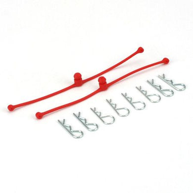 Body Klip Retainers, Red (2)