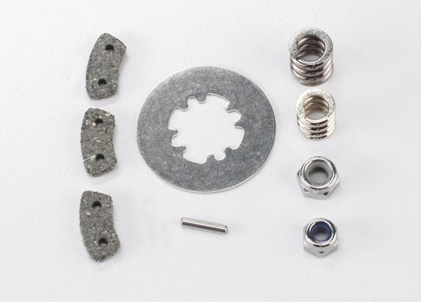 Traxxas 5552X Rebuild kit, slipper clutch (steel disc/ friction pads (3)/ spring (2)/ pin/ 4.0mm NL (1)/ 5.0mm NL (1)) 0.03