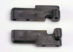 Traxxas 4918 Servo mounts, steering/ shift (f&r) (black) 0.02