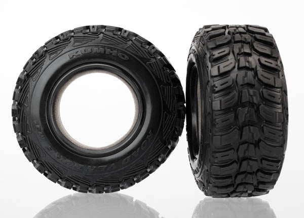 Traxxas 6870R Tires, Kumho, ultra-soft (S1 off-road racing compound) (dual profile 4.3x1.7- 2.2/3.0') (2)/ foam inserts (2) 0.385