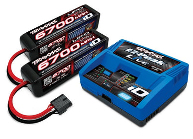 Traxxas 2993 - Battery/charger completer pack (includes #2971 iD® charger (1), #2890X 6700mAh 14.8V 4-cell 25C LiPo battery (2))