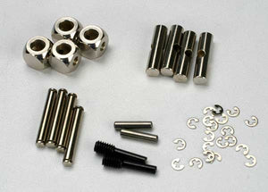 Traxxas 5452 U-joints, driveshaft (carrier (4)/ 4.5mm cross pin (4)/ 3mm cross pin (4)/ e-clips (20)) (metal parts for 2 driveshafts) 0.06