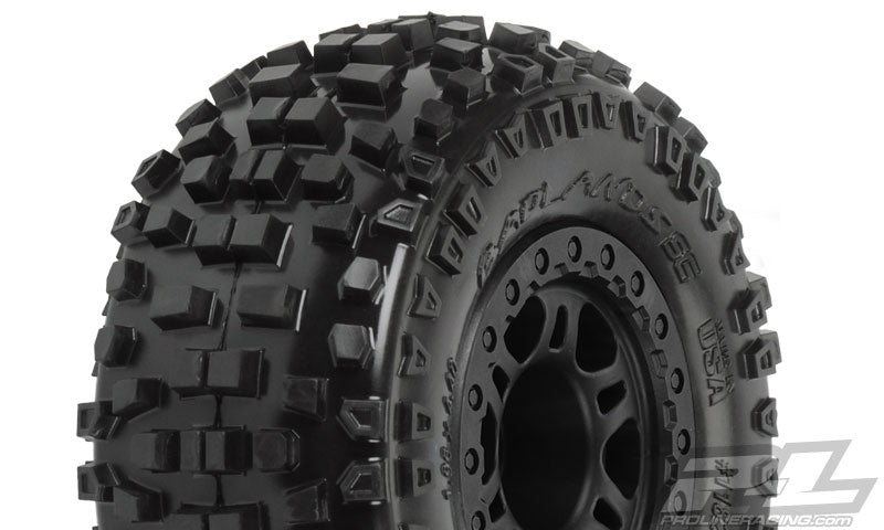 Pro-Line 1182-22 Badlands SC Tires w/Split Six Wheels (2) (Slash Rear) (M2)