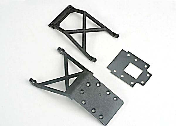 Traxxas 4133 Front & Rear Skid Plates With Transmission Spacer
