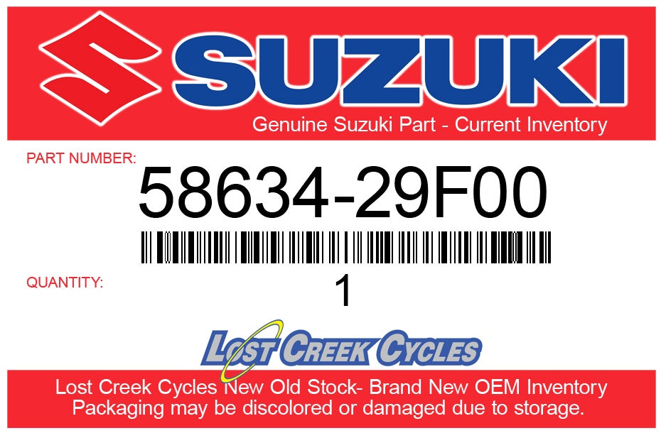 Suzuki 58634-29F00 STOPPER, CLUTCH CABLE 58634-29F00